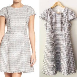Eliza J Fit and Flare Tweed dress size 8